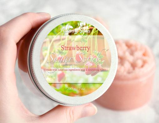 Rød sukkerskrubb med jordbær duft