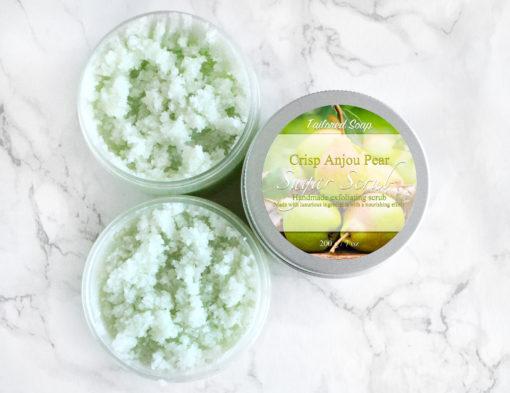 Grønn sukkerskrubb med pære duft