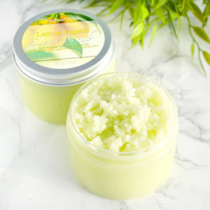 Gul sukkerskrubb med sitron duft