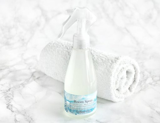 Blå romspray med duft av nysnø
