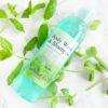Grønn dusjsåpe og shampo med mynte duft