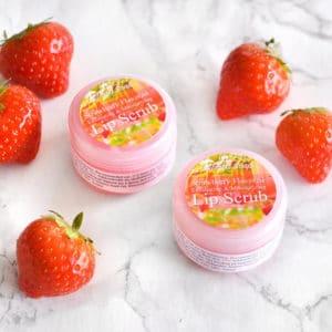 Rosa leppeskubb med jordbær smak