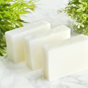 Naturlig såpe laget med kokosolje