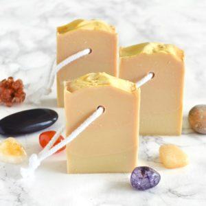 Oransje kaldprosess såpe med ørken duft