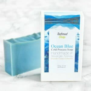 Blå kaldprosess såpe med hav duft
