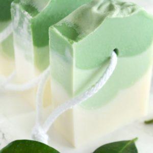 Grønn kaldprosess såpe med bonsai duft