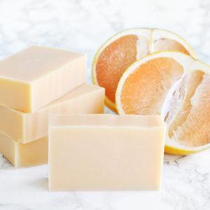 Oransje kaldprosess såpe med duft av grapefrukt bellini