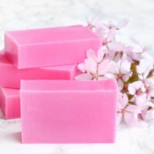 Rosa kaldprosess såpe med kirsebær duft