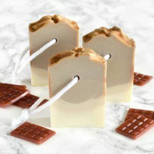 Brun kaldprosess såpe med sjokolade og espresso duft