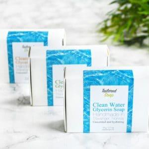 Rent vann såper fra Tailored Soap