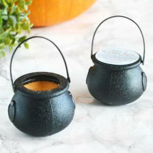 Oransje heksegryte badebombe til Halloween, gresskarpai håndlaget av Tailored Soap